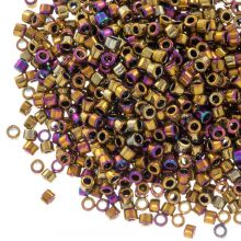 Miyuki Delica (11/0 mm) Metallic Golden Olive Iris (10 Grams)