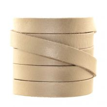 DQ Flat Leather (10 x 2 mm) Metallic Champagne (1 Meter)
