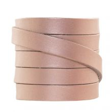 DQ Flat Leather (10 x 2 mm) Metallic Rose Gold (1 Meter)