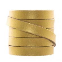 DQ Flat Leather (10 x 2 mm) Metallic Gold (1 Meter)