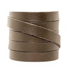 DQ Flat Leather (10 x 2 mm) Metallic Mocha (1 Meter)