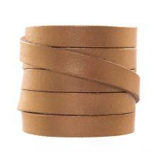 DQ Flat Leather (10 x 2 mm) Metallic Bronze (1 Meter)