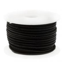 DQ Leather Vintage (1 mm) Black (10 Meter)