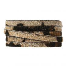 DQ Flat Leather Safari (5 x 2 mm) Leopard Brown Print (1 meter)