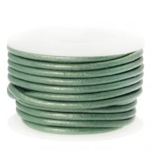 DQ Leather Metallic (2 mm) Mint Green (5 Meter)