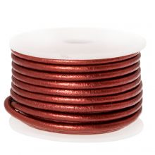 DQ Leather Metallic (2 mm) Red (5 Meter)