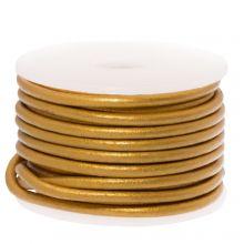 DQ Leather Metallic (2 mm) Gold (5 Meter)