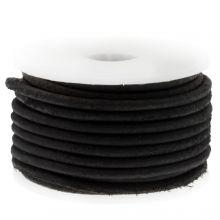 DQ Leather Vintage (2 mm) Black (5 Meter)