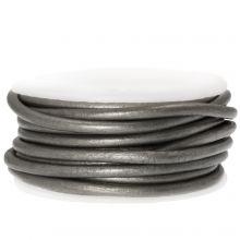 DQ Leather Metallic (3 mm) Grey (5 Meter)