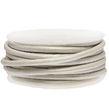 DQ Leather Metallic (3 mm) White (5 Meter)