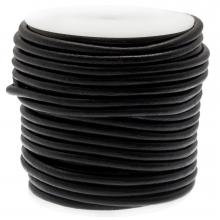 DQ Leather Regular (5 mm) Black (20 Meter)
