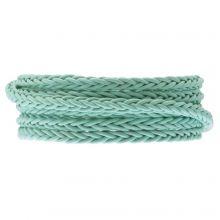 DQ Flat Braided Leather Regular (6 x 3.5 mm) Mint Green (1 Meter)
