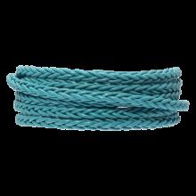 DQ Braided Leather Regular (4 mm) Sky Blue (1 Meter)