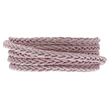 DQ Braided Leather Regular (4 mm) Soft Pink (1 Meter)