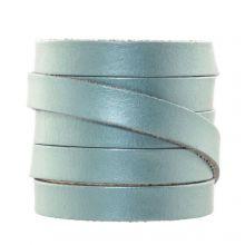 DQ Flat Leather (10 x 2 mm) Metallic Powder Blue (1 Meter)