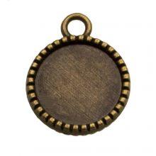 Setting 2 Eyelets (12 mm) Bronze (10 pcs)