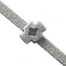 Slider (hole size 3 x 2 mm) Antique Silver (10 pieces)