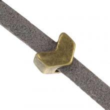 Slider (Hole size 3 x 2 mm) Bronze (10 pcs)