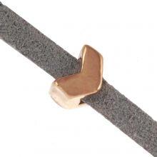 Slider (Hole size 3 x 2 mm) Gold (10 pcs)