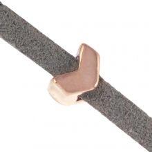 Slider (Hole size 3 x 2 mm) Rose Gold (10 pcs)