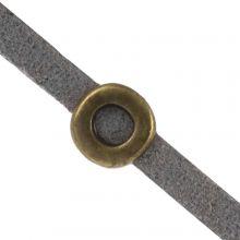 Slider (hole size 3 x 2 mm) Bronze (10 pieces)