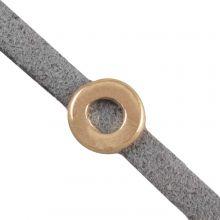 Slider (hole sieze 3 x 2 mm) Gold (10 pieces)