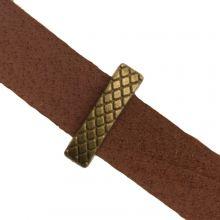 Slider Beads Grid (hole size 10 x 2 mm) Bronze (10 pcs)