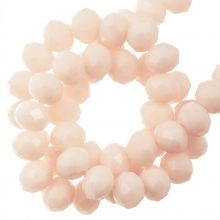 Faceted Rondelle Beads (4 x 6 mm) Salmon (90 pcs)