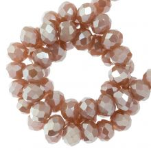 Faceted Rondelle Beads (3 x 4 mm) Canyon Clay (130 pcs)