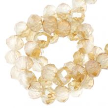 Faceted Rondelle Beads (3 x 4 mm) Sepia (130 pcs)