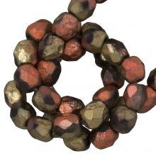 DQ Fire Polished Beads (4 mm) California Gold Rush Dark (50 pcs)