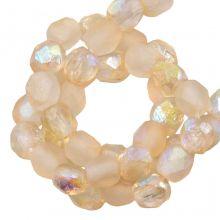 DQ Fire Polished Beads (4 mm) Yellow Rainbow (50 pcs)