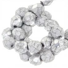 DQ Fire Polished Beads (Silver) 6 mm (25 pcs)