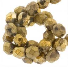 DQ Fire Polished Beads (Amber Gold) 6 mm (25 pcs)