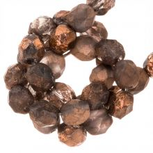 DQ Fire Polished Beads (Capri Gold Dark) 6 mm (25 pcs)