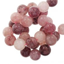 Strawberry Quartz Beads (6 mm) 63 pcs