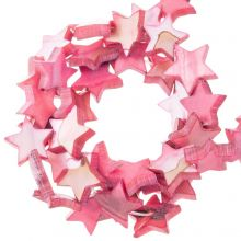 Shell Beads Star (11 mm) Old Pink (38 pcs)