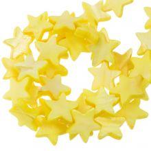 Shell Beads Star (11 mm) Yellow (38 pcs)