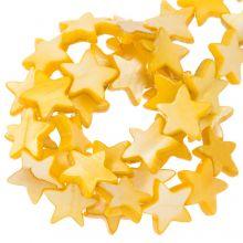 Shell Beads Star (11 mm) Orange (38 pcs)