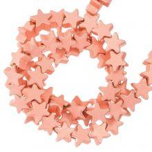 Hematite Beads Star (4 x 2 mm) Rose Gold (115 pcs)