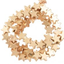 Hematite Beads Star (4 x 2 mm) Light Gold (115 pcs)