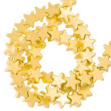 Hematite Beads Star (4 x 2 mm) Gold (115 pcs)