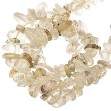 Gemstone Chips Rutilated Quartz (5- 8 mm) 100 pcs
