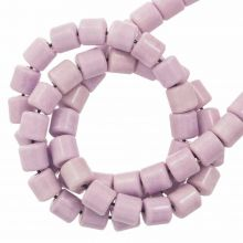 Agate Beads Colored (4.5 x 4.5 mm) Lilac (90 pcs)