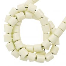Agate Beads Colored (4.5 x 4.5 mm) Pale Yellow (90 pcs)