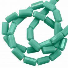 Glass Beads Opaque (7 x 3 mm) Mint Green (80 pcs)
