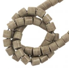 Agate Beads Colored (4.5 x 4.5 mm) Brown Grey (90 pcs)