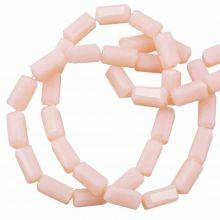 Glass Beads Opaque (7 x 3 mm) Salmon (80 pcs)