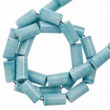 Agate Beads Colored (8 x 4 mm) Light Sky Blue (45 pcs)