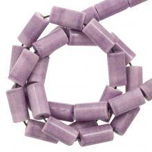 Agate Beads Colored (8 x 4 mm) Plum (45 pcs)